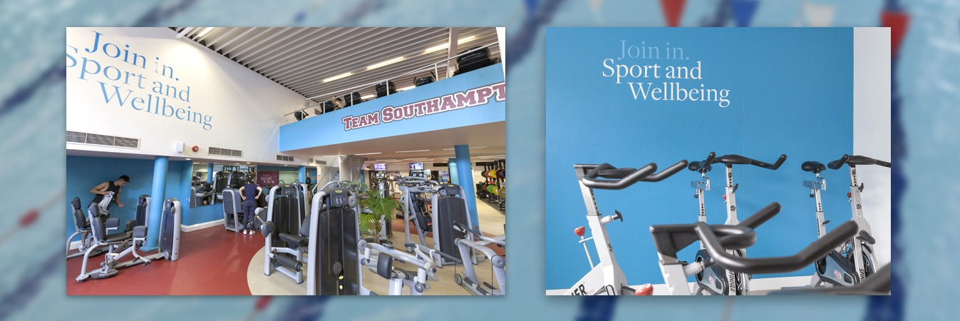 Signage design University of Southampton sports centre